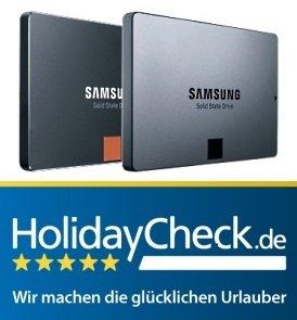 Bei Kauf einer Samsung SSD EVO/PRO ab 250GB: 100€ Reisegutschein von HolidayCheck gratis