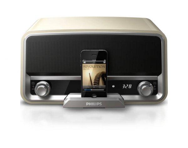 Mein Paket: Philips Original-Radio ORD7100C Cremefarbene Dockingstation für iPod/iPhone für 141,55€