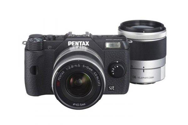 Pentax Q10 Kit 5-15mm + 15-45mm Schwarz für 349€ @Fotoversand Afa