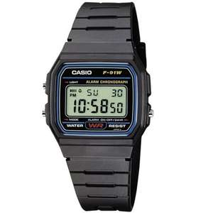 Ebay: Casio Collection Herren-Armbanduhr Digital Quarz F-91W-1YEF für 9,99€