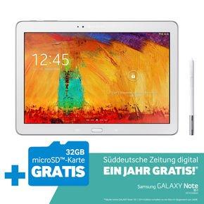NBB: Samsung Galaxy Note 10.1 2014 Wifi 16GB + 32GB MicroSD + 1 Jahr Süddeutsche Digital