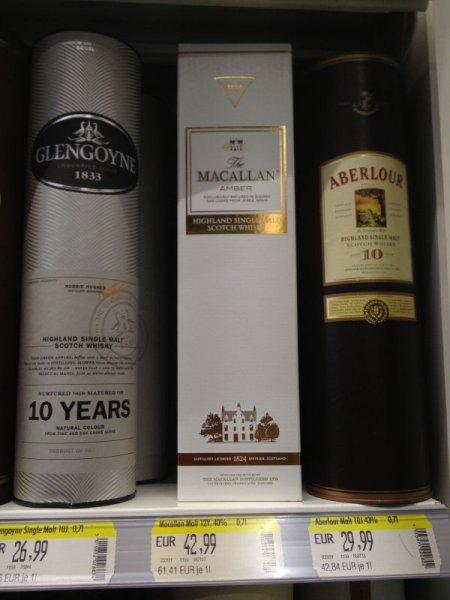 Macallan Amber Whisky 0,7l für 42,99€ bei Trinkgut Wesel