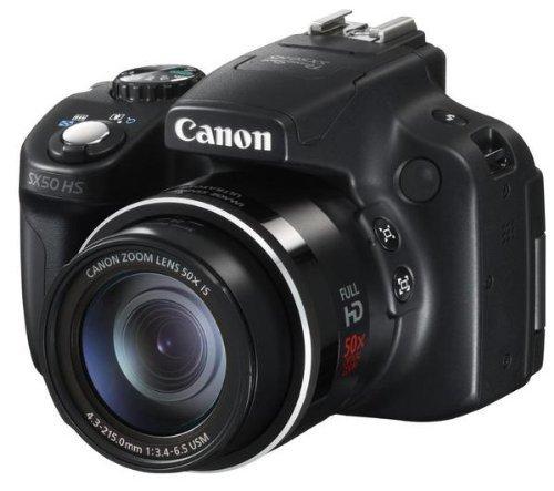 Canon Powershot SX50 HS (Bridgekamera - 12.8 Megapixel,50 -x opt. Zoom (2.8 Zoll Display)) bei Amazon!