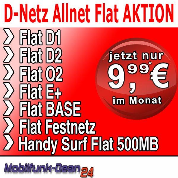 Vodafone Netz Allnet Flat + Internet flat 500 MB - rechnerisch 9,99€