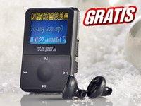 Gratis - Mini-MP3-Player mit 3,7cm-LCD-Display, microSD-Slot & LiPo-Akku