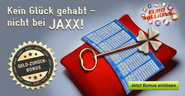 Gratis Euromillions spielen: 2,50€ Gutschein bei JAXX (auch Bestandskunden)