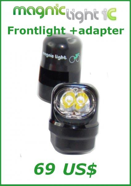 Magnic Light iC, Wirbelstrom Fahrradbeleuchtung, auf Kickstarter ab 51 €