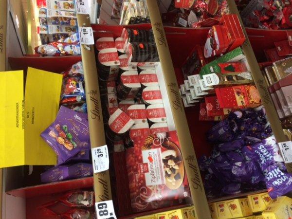 Weihnachts-Süßigkeiten-Schnäppchen bei REWE