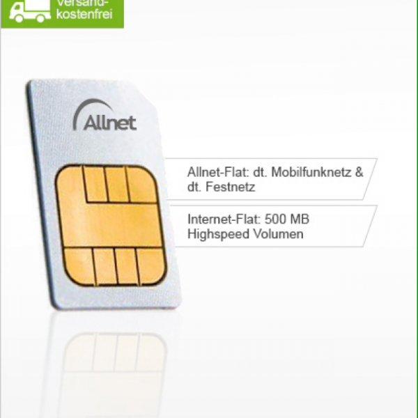 Allnet Flat + 500MB Internet - E-Plus Netz für 7,99€