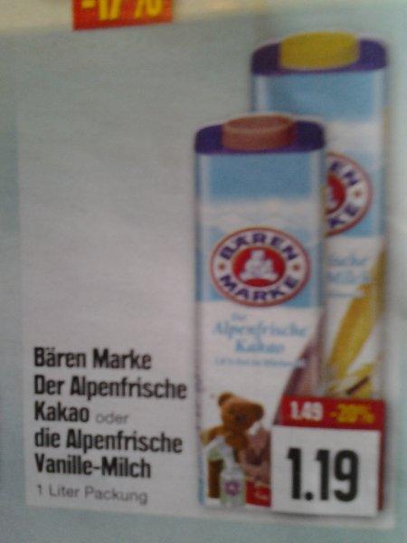 Bären Marke Alpenfrischer Kakao, Alpenfrische Vanillemilch -> Coupies (Edeka)