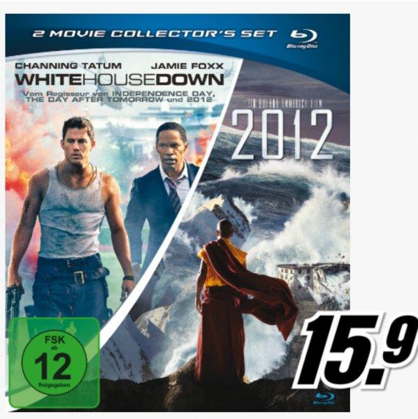 White house down &  2012 auf einer Blu Ray für nur 15.9 € @ Mediamarkt
