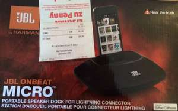 JBL onbeat Micro für Apple iPhone 5 5S 5C [Penny]