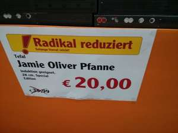 [Lokal - Waghäusel] Tefal Pfanne E00706 Jamie Oliver Professional Series Black Induction Pfanne 28 cm