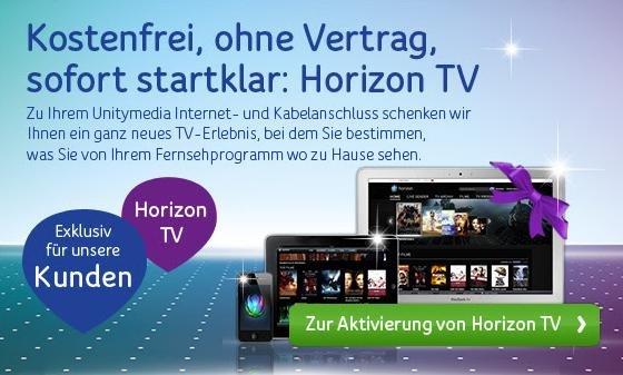 [Unitymedia - Bestandskunden] Horizon TV umsonst