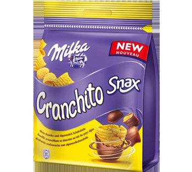 3x Milka Cranchito Snax 105g Beutel  für 1,99€ (Sonderposten)