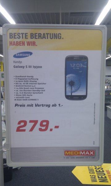 Samsung Galaxy S3 nur 279€ im MediMax Gross-Gerau
