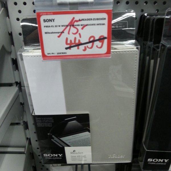 [Lokal ?] SonyStandard-Cover mit Leseleuchte für Reader PRS-T1/T2 weiß