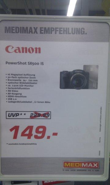 Canon Powershot SX500 Digitalkamera mit 30x optischen Zoom für 149€ im MediMax GrossGerau