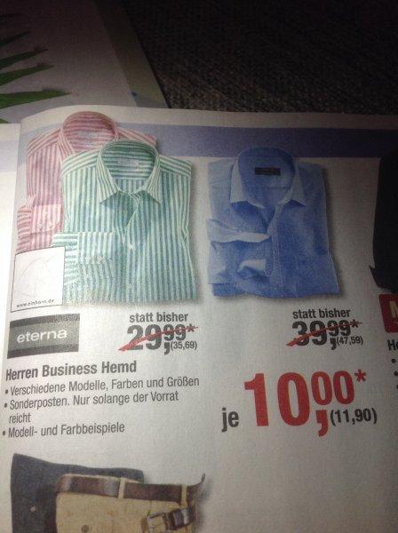 Eterna Bügelfrei Business Hemd bei Metro ab 16.01. für 11,90€