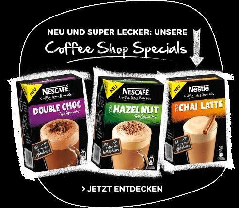 [Coupies/Barcoo] Nescafé Coffee Shop Specials ab 69 Cent [evtl. nur lokal]