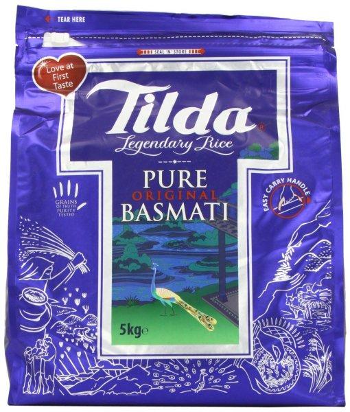 Tilda Pure Basmatireis aus Indien, 1*5kg Packung - 18,49€ inkl. Versand von Get Grocery