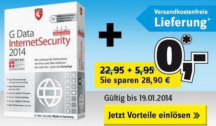 Conrad WinterSparVerkauf - Gdata Internet Security 2014 Gratis+Versandkostenfrei ab 30€