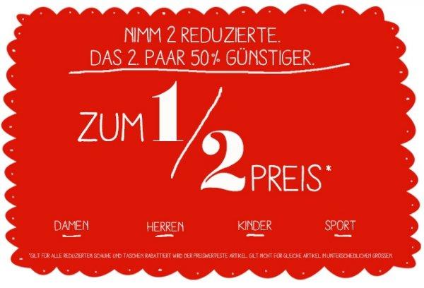 -50% oder 3für2 bei Deichmann (lokal und online)