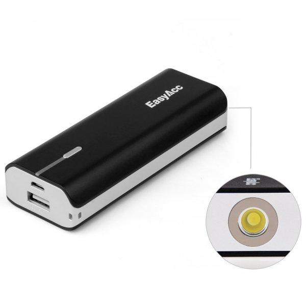 Ab heute: EasyAcc U-Bright 6000 mAh Akku mit extra heller (0,5 W LED) Taschenlampenfunktion für 19,99€