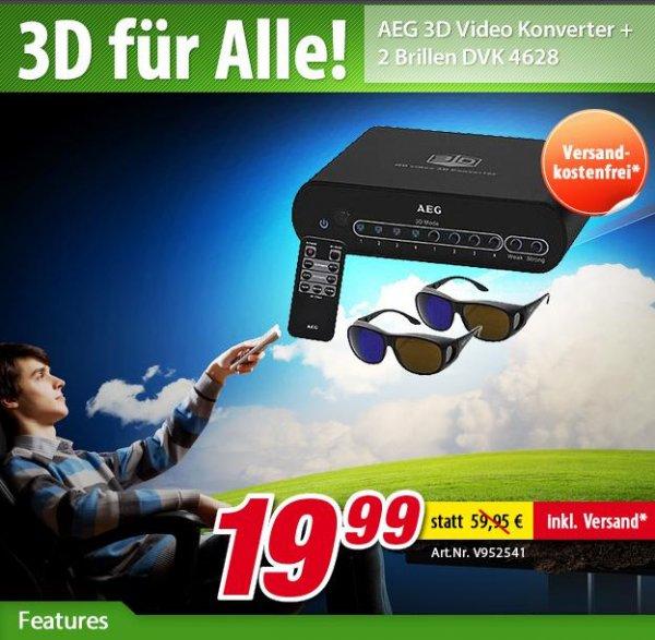AEG 3D Video Konverter + 2 Brillen DVK 4628 bei voelkner.de für 24,94 € inkl. VSK