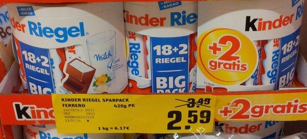 [Lokal] Rewe Jakubek (Bergisch Gladbach, Paffrath) - Kinderriegel Big Pack für 2,59 €