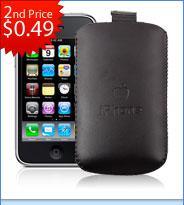 2x Iphone 3G / 3GS Ledertaschen aus China für ca. 1,05€