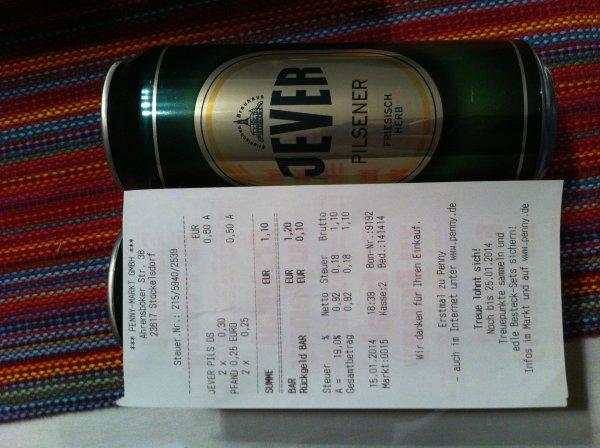 (PENNY) JEVER Bier Dose 0,5 Liter im Angebot für 0,30 EUR (evtl. Regional)