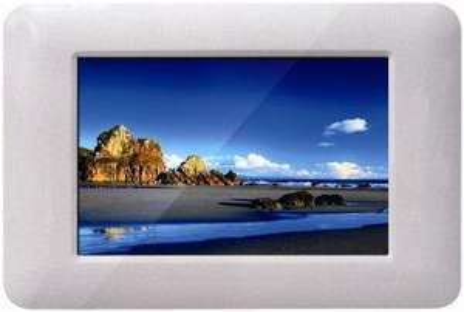 "Q-MEDIA Digitaler Bilderrahmen 18 cm (7"") Weiß für 16,98€ incl. VSK"
