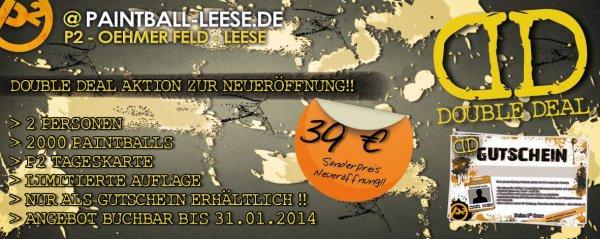 1 Tag Paintball-zocken 2 Leute incl. 2000 Schuss Raum Hannover