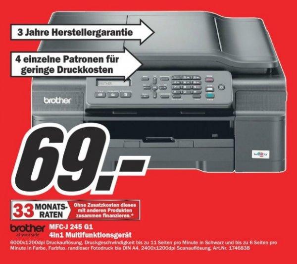 Brother MFC-J245G1 für 69€ Lokal [Mediamarkt Velbert]