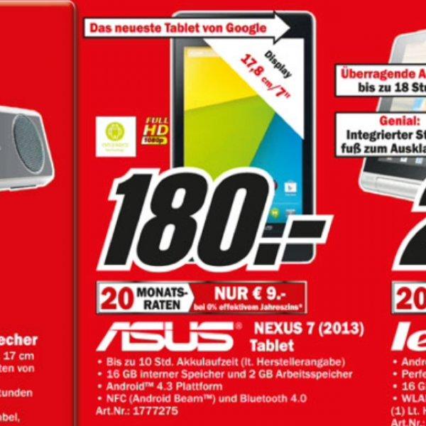 [Lokal] MM Köln Nexus 7 16gb WiFi (2013)