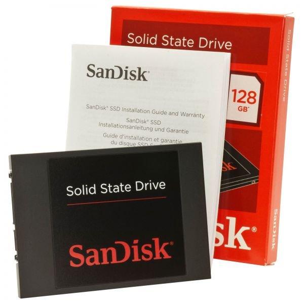 SanDisk SSD-Festplatte SATA-III SDSSDP-128G-G25 128 GB 2.5 Zoll SATA III  oder noch günstiger mit Gutschein