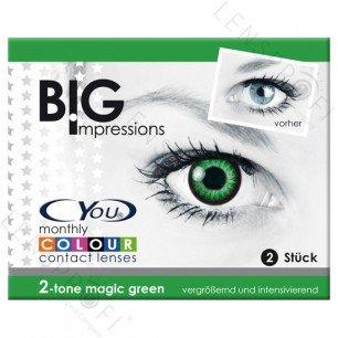 Farbige Kontaktlinsen perfekt für Fasching & Karneval mit & ohne Stärke