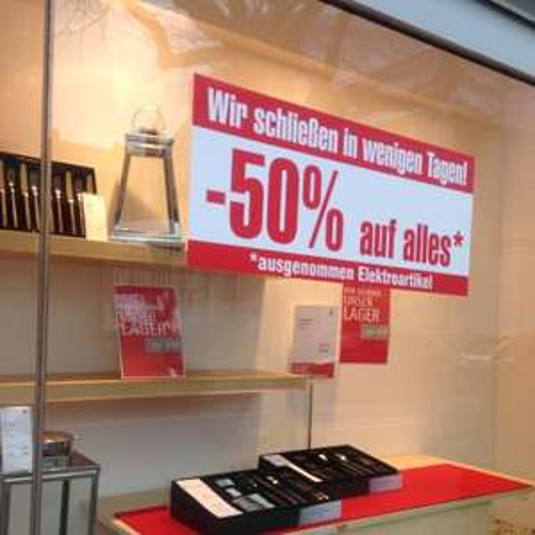 WMF Aachen 50% Auf alles