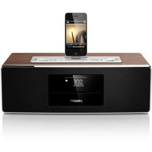 Phi­lips-DCM850 - Micro-Kom­pakt­an­lage mit iPhone-/iPod-/iPad-Dock für 150€ @Pixmania