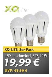 Wieder da - meinpaket: XQ-Lite LED-Leuchtmittel 3er Pack für 19,99€!
