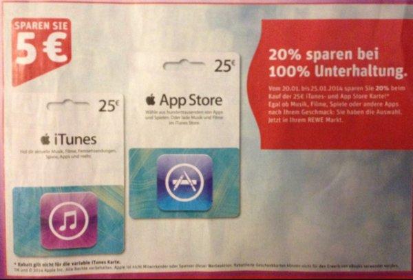 20% (25€) iTunes & App Store Karten
