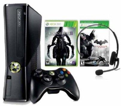Xbox 360 Slim - 250 GB Batman Arkham City + Darksiders II [Amazon WHD]