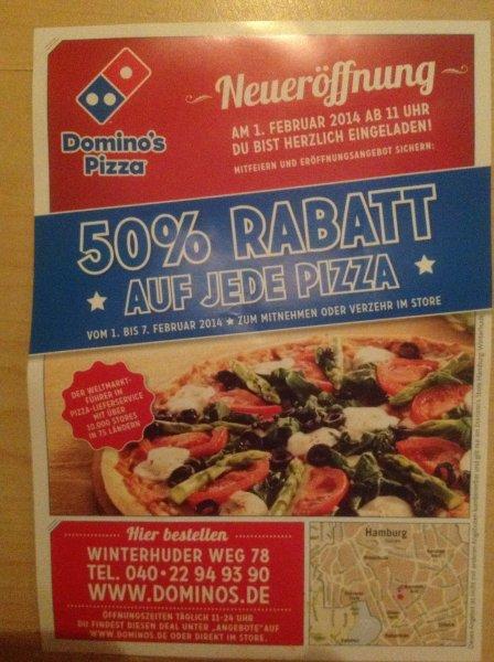 [Lokal HH-Uhlenhorst] Domino's Pizza Neueröffnung 50% auf jede Pizza (01.02-07.02)