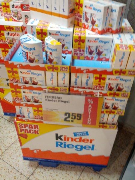 Lokal ? Kinder Riegel 20 Stk bei Rewe in Lehrte für 2,59