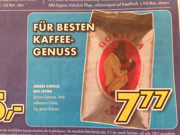[Lokal EURONICS Echterdingen] Joerges Espresso Gorilla Bar Crema 1 kg