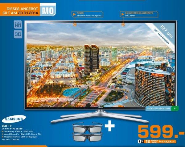 Samsung UE50F6170 SSXZG 599€ Lokal Tagesangebot[Saturn Marl]