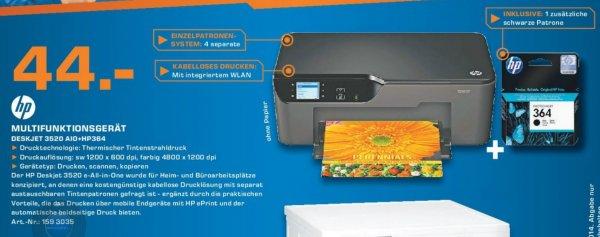 Hewlett-Packard HP Deskjet 3520 e-All-in-One + Schwarze Patrone 44€ Lokal [Saturn Troisdorf]
