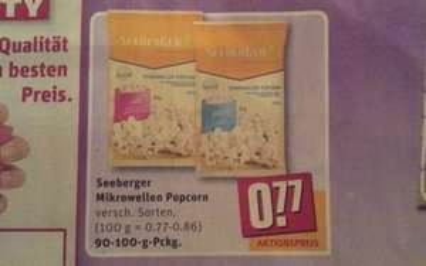 Seeberger Mikrowellen Popcorn @Rewe Köln evtl. Bundesweit?!
