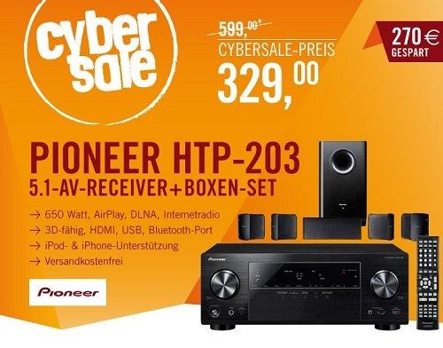 Wieder da: Pioneer HTP-203 5.1 3D-Heimkinosystem (Airplay, DLNA, HTC Connect, MHL, vTuner Webradio, 4K Ultra-HD) @Cyberport
